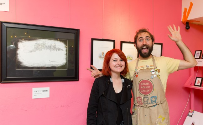 Rolnick with artist Kat Philbin