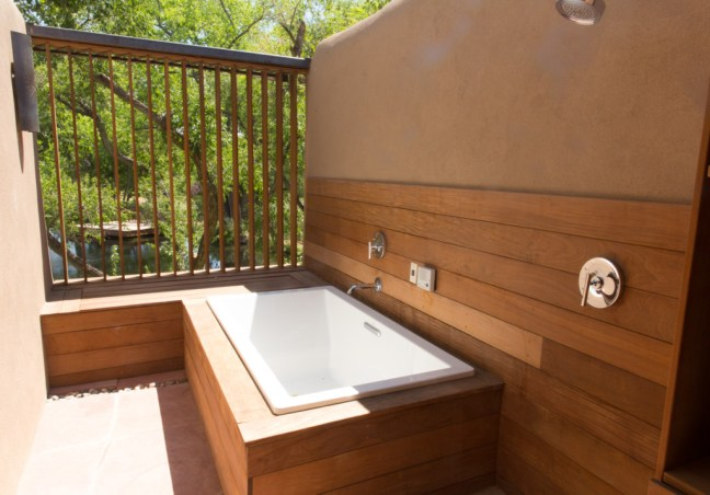 Santa Fe Sunrise Springs outdoor soaking tub