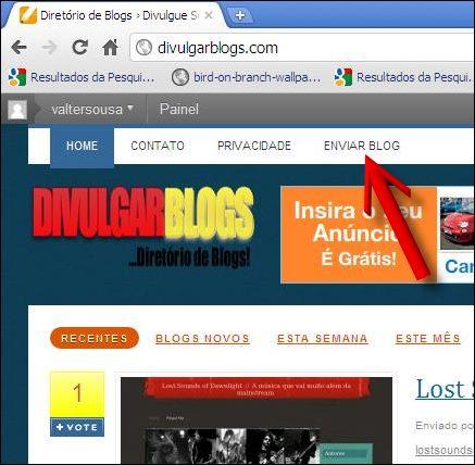 clicar link enviar blog divulgar blogs