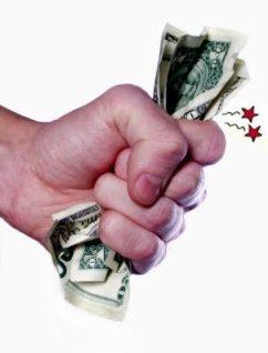 mão vaca fechada dinheiro