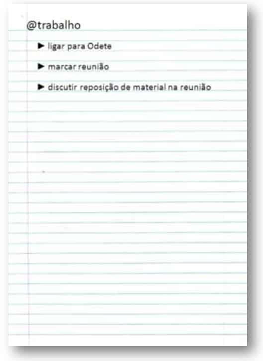GTD organizacao listas lista trabalho