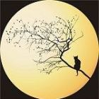 Free Cross Stitch Pattern Moon Cat