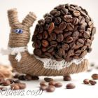 DIY Coffee Bean Snail