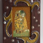 """The kiss"" Klimt Decoupage wooden frame"