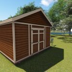 16x14 Large Gable Shed Plan for storaging tons of stuff