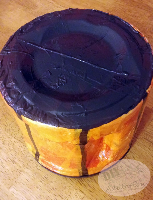 Celebrate Autumn with this fun and functional DIY Jack-O-Lantern treat jar!