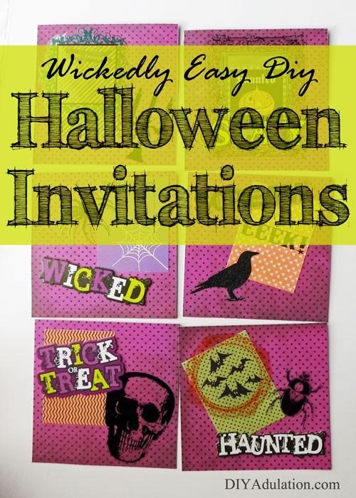 Wickedly Easy DIY Halloween Invitations