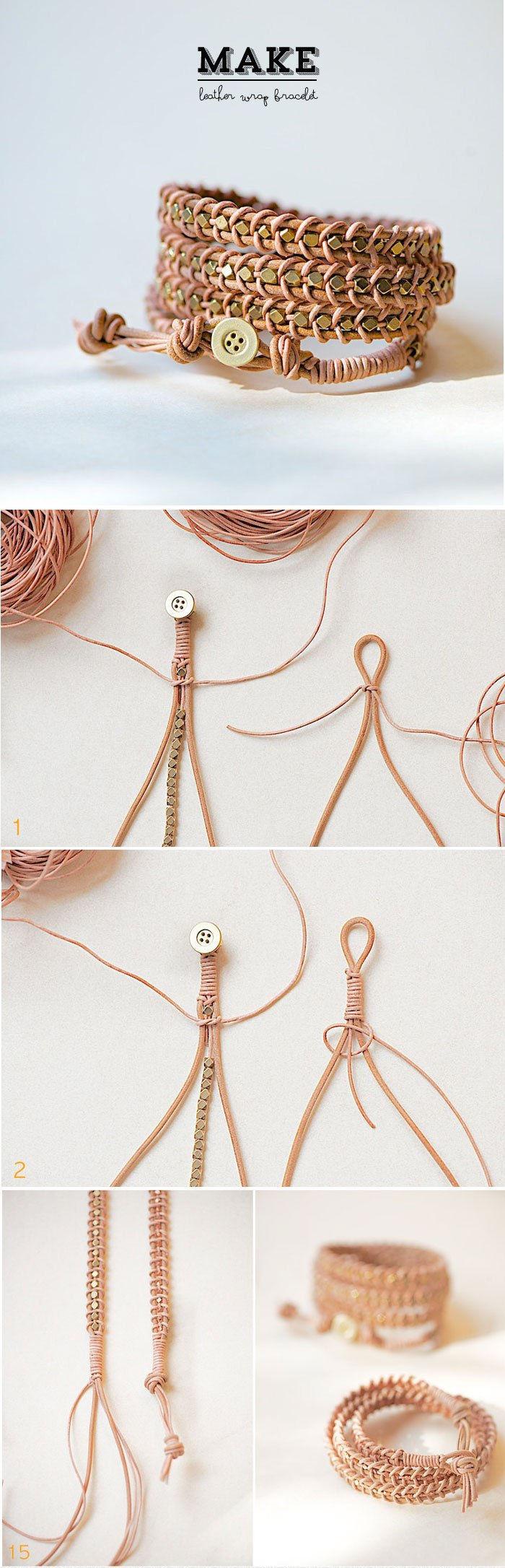 diy leather wrap bracelet diy crafts. Black Bedroom Furniture Sets. Home Design Ideas