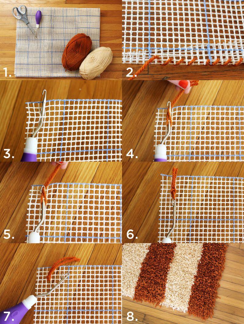 Diy Latch Hook Rug From Beautiful Mess Diy Amp Crafts