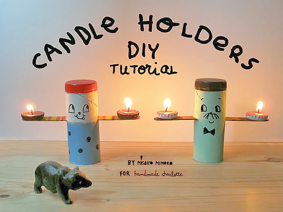 Make your own folksy tea light candle holders handmade for Create your own candle holder