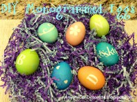 Anyone Can Decorate: How to Make Monogrammed Easter Eggs – Easy Peasy
