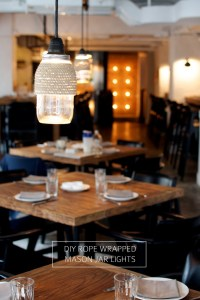 DIY ROPE WRAPPED MASON JAR LIGHTS | From a pair & a spare