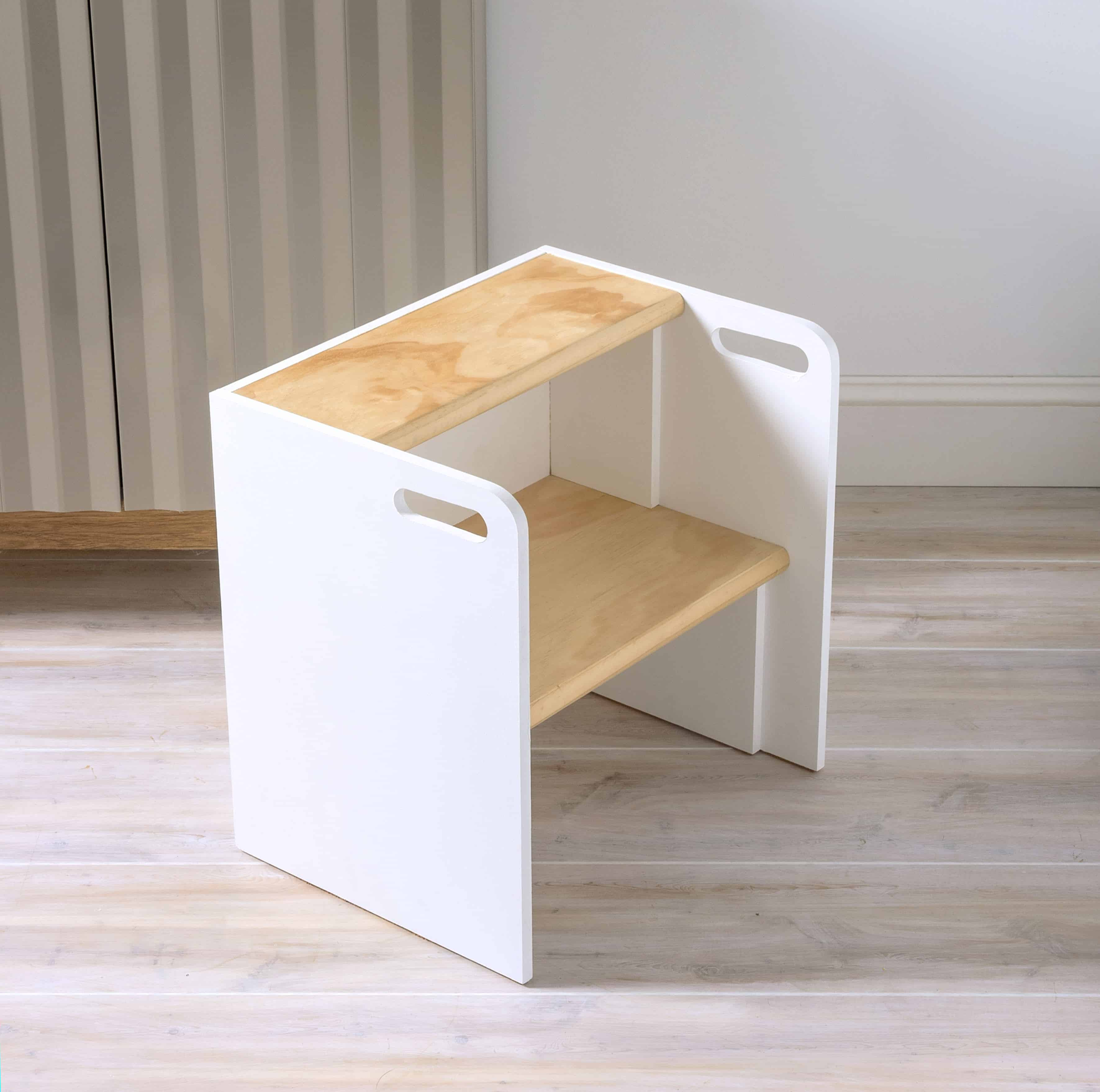 Multipurpose Learn How To Build A Wooden Step Stool That Turns Into A Chair If You Flip Diy Wooden Step Stool Chair Diy Candy Wood Step Stool Target Wood Step Stool Round baby Wood Step Stool
