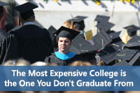 College graduate representing college graduation rates