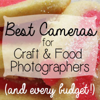 Best Cameras for Craft and Food Photography (and every budget!)