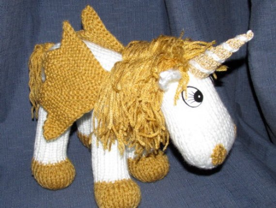 Toy Unicorn - KNITTING PATTERN - pdf file by automatic download by RianAnders...