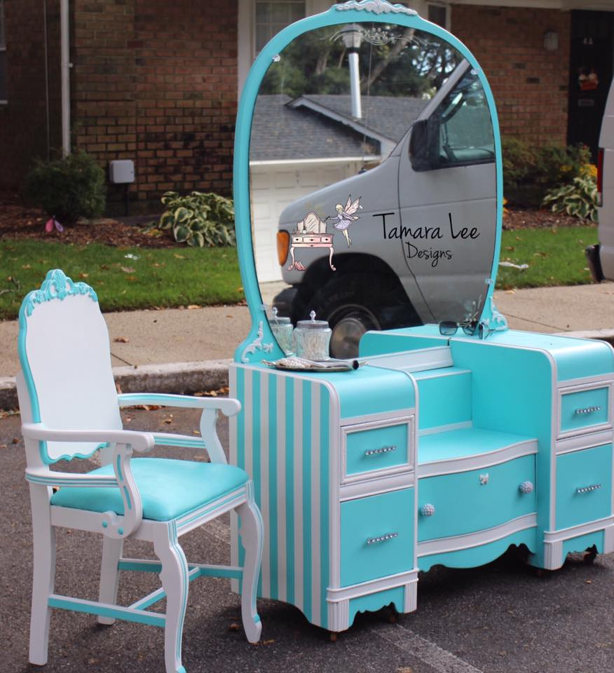 Tiffany Vanity Makeover by Tamara Lee Designs - DIY Furniture Makeovers