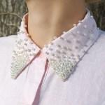 DIY Pearl Embellished Shirt Collar Tutorial