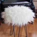 Faux fur stool 3