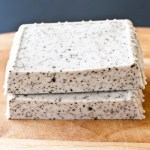 exfoliating coffee mint soap