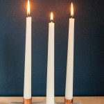 Marble and Copper Candleholders