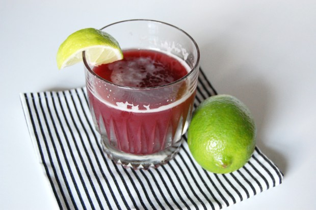 ginger lime pomegranate cocktail recipe