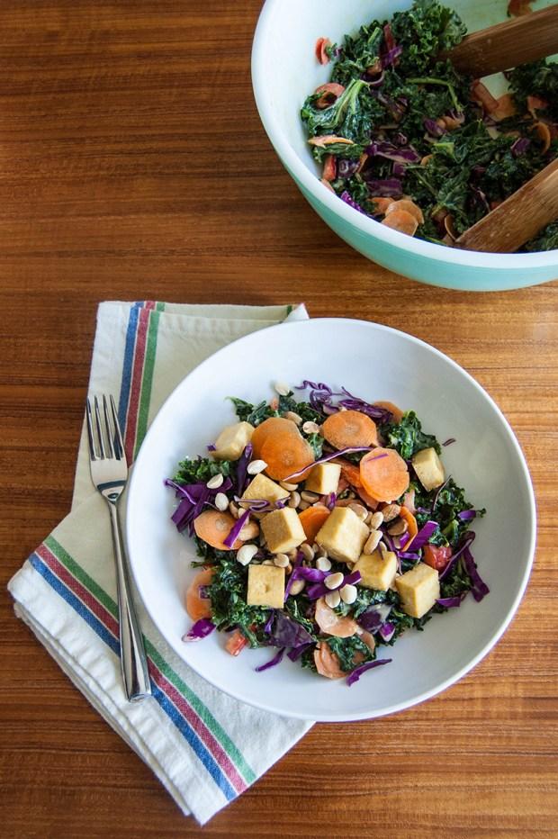 Kale Thai Peanut Salad Recipe