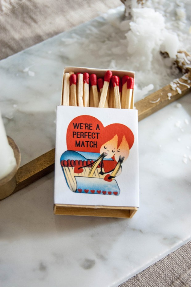 Valentine's Day match box