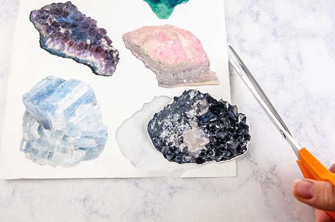 DIY Free Printable Mineral Chart Tote Bag