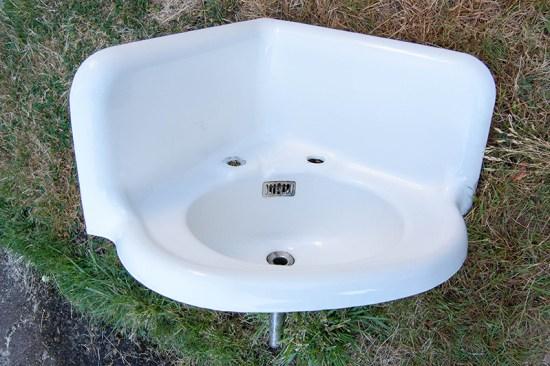 vintage corner sink