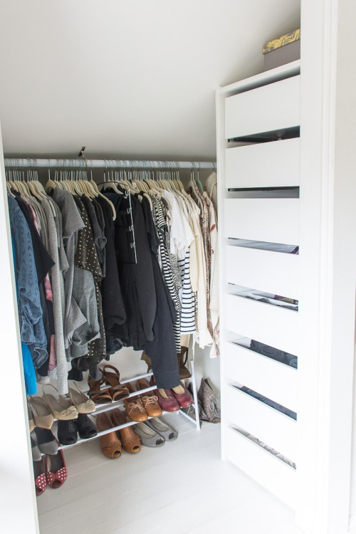 Ikea Hack: How to add Ikea drawers to a non-Ikea closet