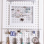 DIY earring storage solutions