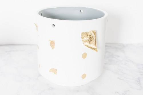 Upgrade a planter by adding gold polka-dots