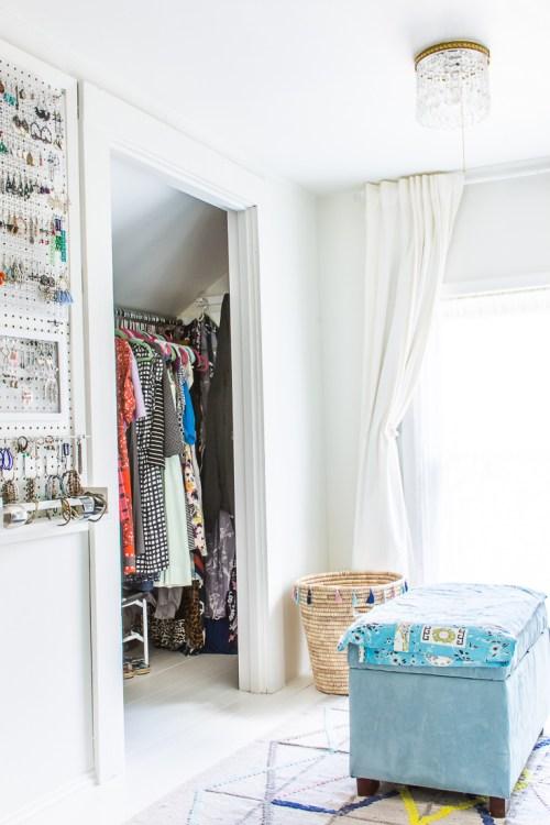 DIY walk-in closet makeover