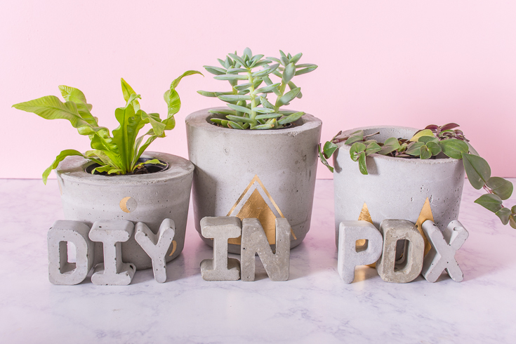 Ready to try your hand at a concrete project, like these pots? Here are a bunch of concrete tips to help ensure success.
