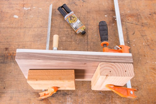 When you're done sanding, wipe down the wood with a damp rag and/or tack cloth.
