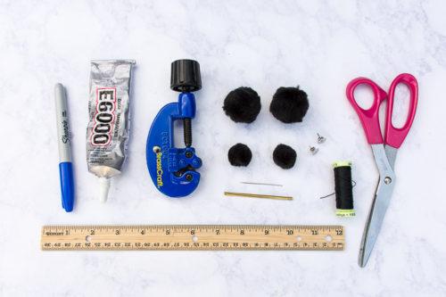 DIY pompom earrings
