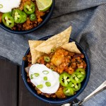 Easy slow-cooker farro sweet potato chili