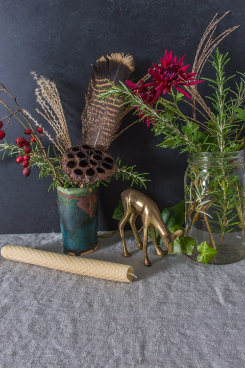 Thanksgiving tablescape flowers