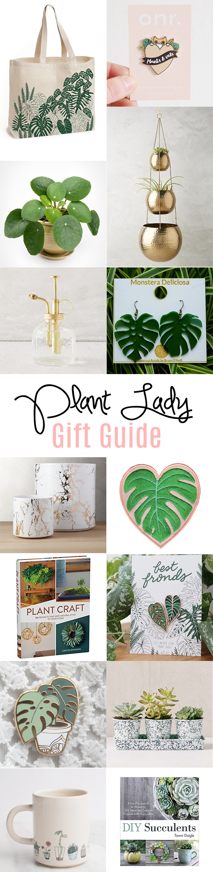 Gifts perfect for the plant lady in your life. #plants #gifts #plantlady #holidays #christmas