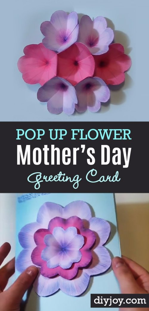 Howling Pop Up Flowers Diy Day Cards Mor S Day Card Ideas On Pinterest Mor S Day Card Ideas To Make Diy Mors Day Cards Diy Mors Day Card