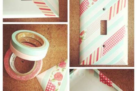 washi tape lightswitch