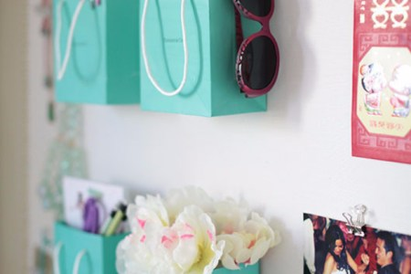 shopping bag wall holders