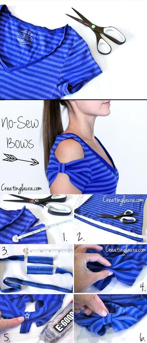 Cute DIY Top for Girls Tutorial | diyready.com/diy-clothes-sewing-blouses-tutorial/