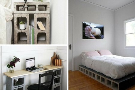 diy bedroom projects for men concrete block furniture ideas