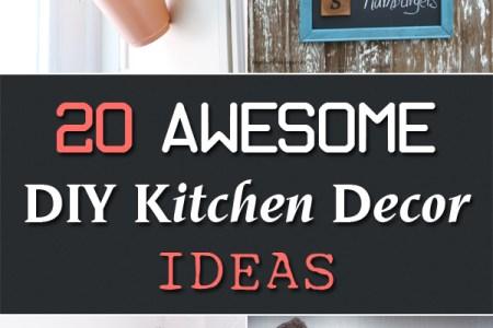 20 awesome diy kitchen decor ideas