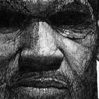 Portraits en pointillisme de l'illustrateur Aaron Baggio.