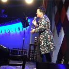 Telling DJing stories on the mic at Carolines on Broadway NYC