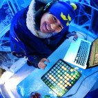 Music Production in the Ice Bar Stockholm, Sweden