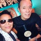 With DJ Dr. Koyama at Rhythm Cafe, Tokyo, Japan